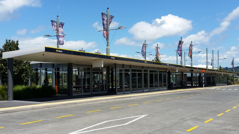 InterCity Auckland - Albany Bus Stop