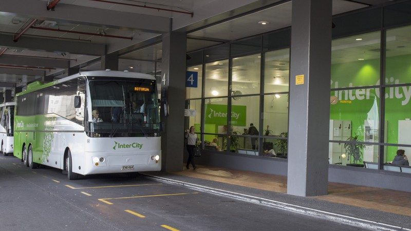 InterCity Sky City Bus Terminal, Auckland New Zealand