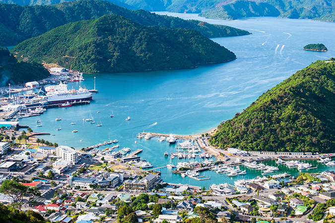 Cross over to Picton in the South Island on the Interislander ferry (included in your pass).
