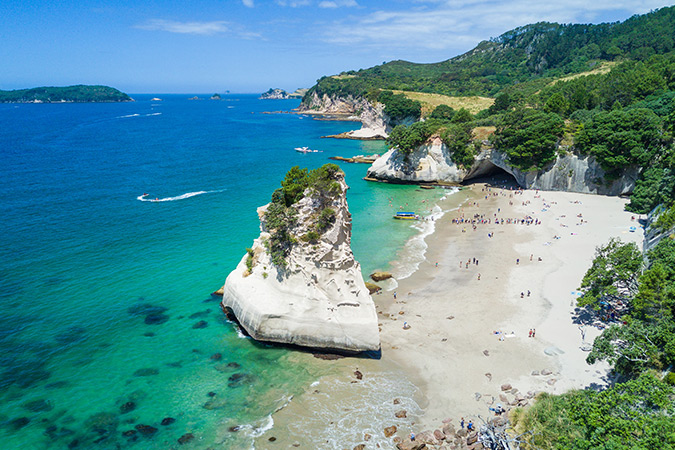 Head to the resort town of Whitianga to experience some of the region's best beaches and activities, like nearby Cathedral Cove and Hot Water Beach.<br />